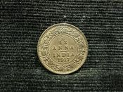 India, George V, 1/12th Anna 1917, VF, JAT544